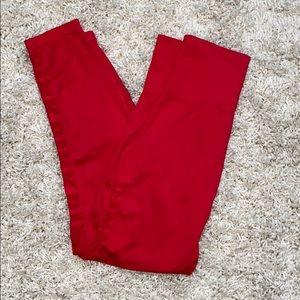 PINK Red super stretch legging